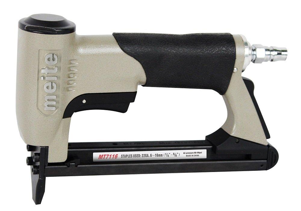 meite MT7116 upholstery stapler - 22 gauge 71 series 3/8-inch crown 1/4-inch to 5/8-inch leg length fine wire stapler furniture stapler