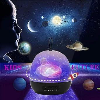 Proyector Estrellas Bebé, Lámpara de Juguete para Bebés de 4 a 11 ...