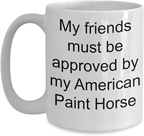 American Paint Horse Coffee Mug White 11oz 15oz Ceramic Tea Coffee Cup Perfect For Travel And Gifts Kitchen Dining