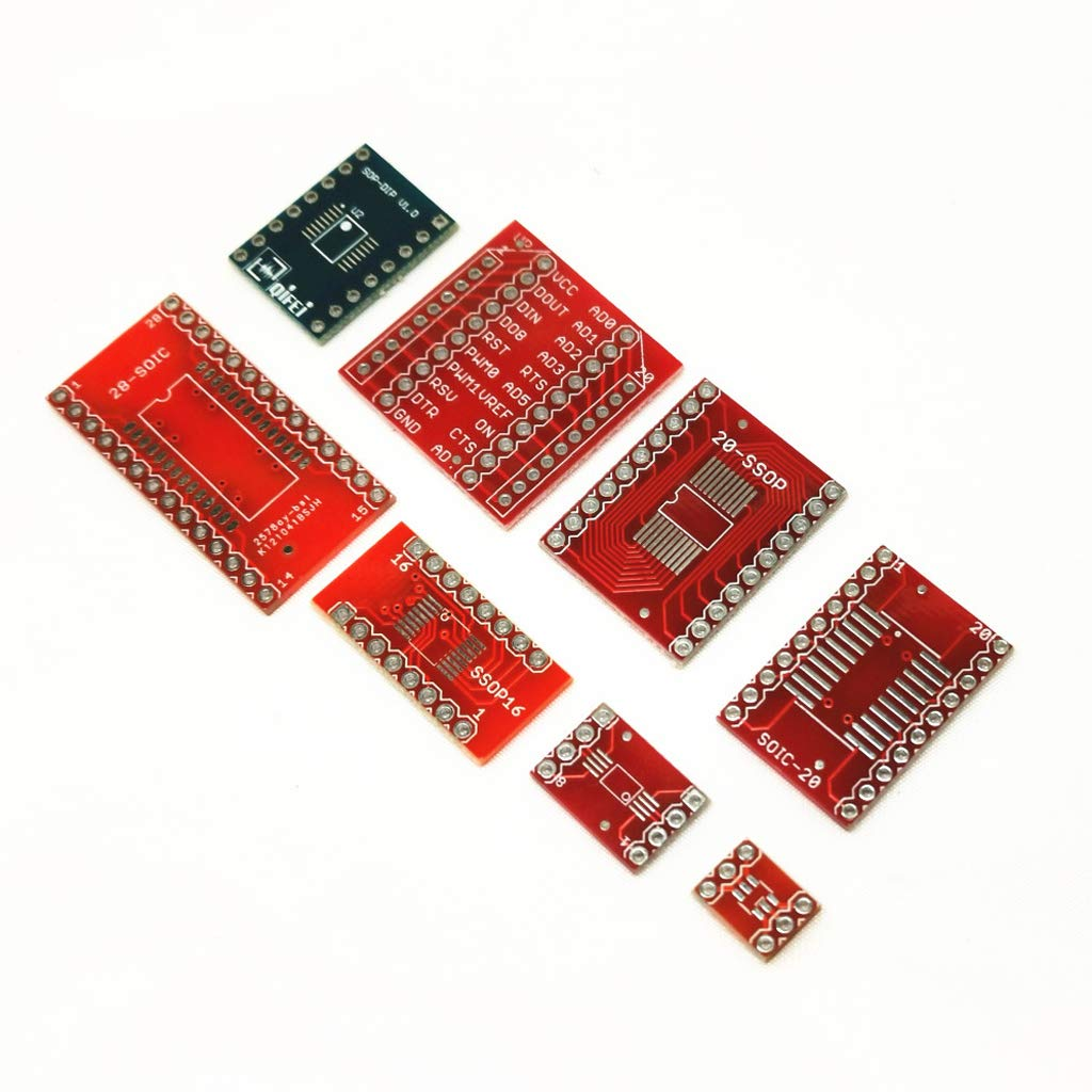 Almencla 1 Set SOP28 to DIP board DIP to SMD Adapter 1.27mm to DIP 2.54mm DIP PCB Board Converter Module