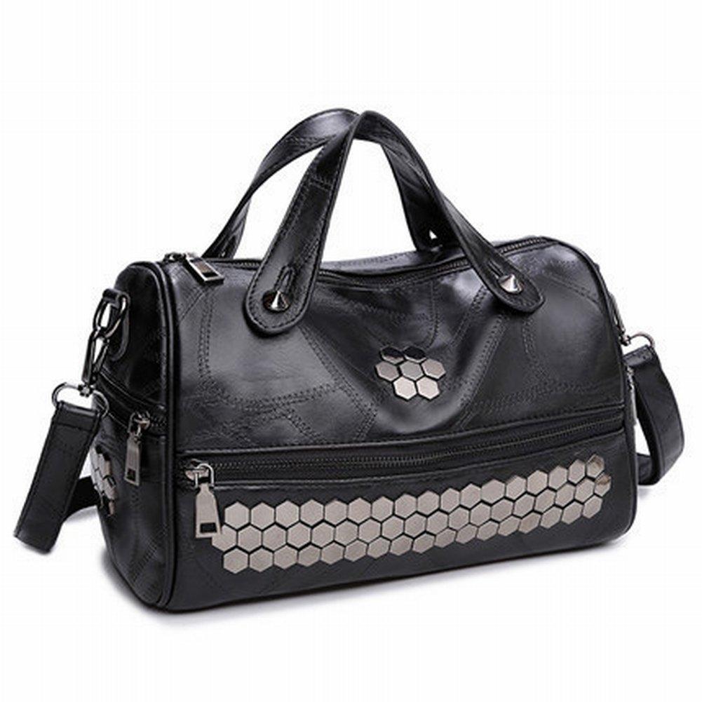 Weibliche Tasche in Der Alten Schulter Messenger Handtasche Nähen Handtaschen , schwarz