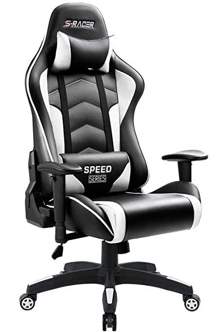 Miraculous Homall Gaming Chair High Back Computer Chair Racing Style Office Chair Embossing Design Pu Leather Bucket Seat Desk Chair With Adjustable Armrest Machost Co Dining Chair Design Ideas Machostcouk