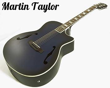 Martin Taylor eléctrico electro Semi Acústico Cuerpo Hueco guitarra (satén rojo cardenal) Fender púas: Amazon.es: Instrumentos musicales