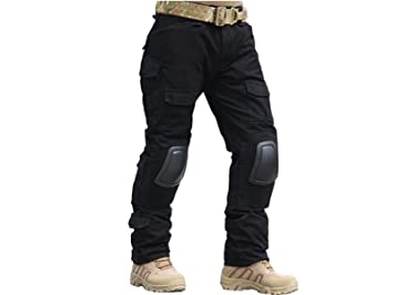 Homme Tenues de Combat Pantalon Militaire Paintball Gen2 Tactique Pantalon  et Genouillères Noir (S ( 1a0ae32d87a