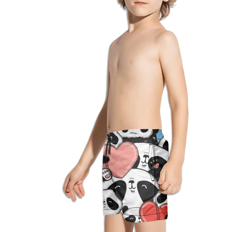 Etstk Panda Kids Quick Dry Swim Trunks for Schoolboys