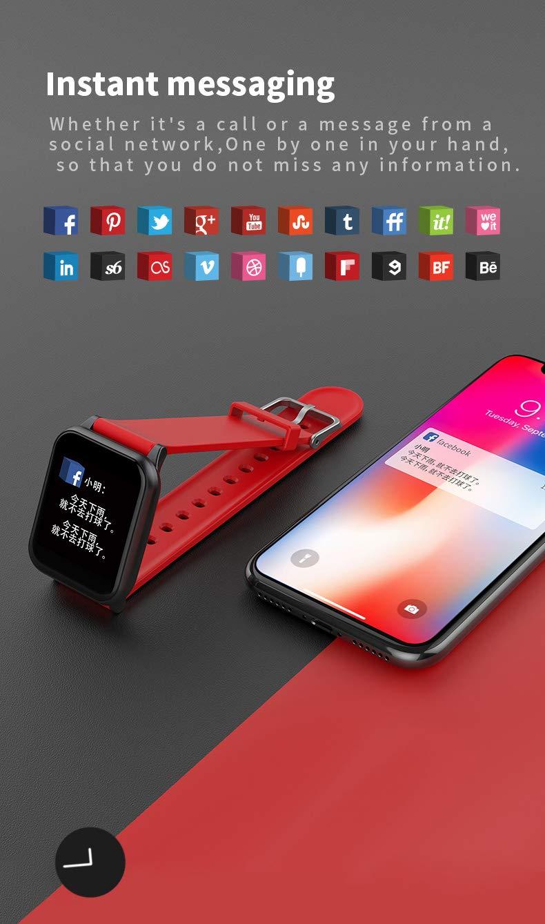 XXxx Z02 Färg stor skärm smart klocka IP67 vattentät hjärtfrekvens, lila Lila