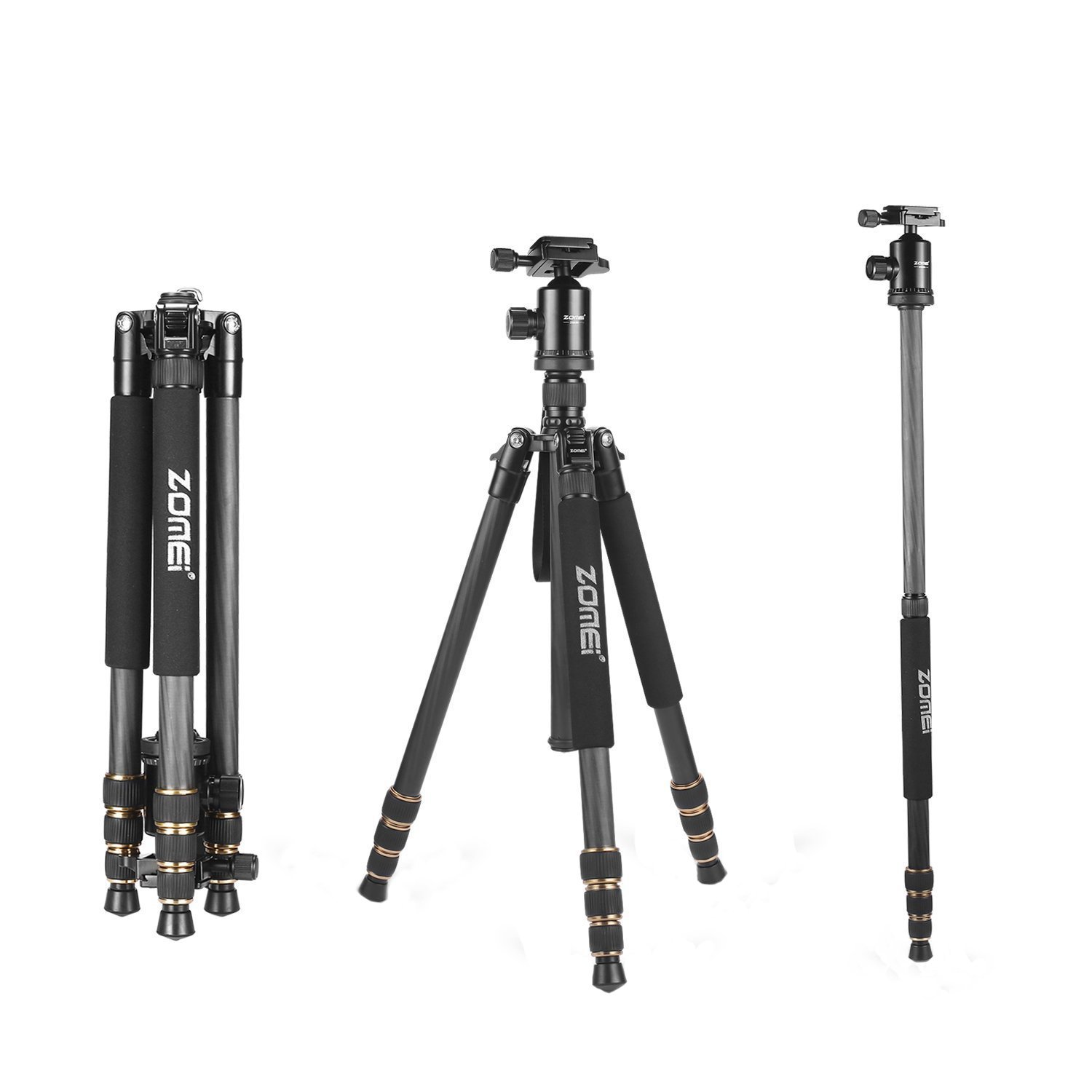 ZOMEi Z668C Lightweight Travel Carbon Fiber Tripod FOR All Canon Sony Nikon Samsung Panasonic Olympus Kodak Fuji DSLR Cameras And Camcorders
