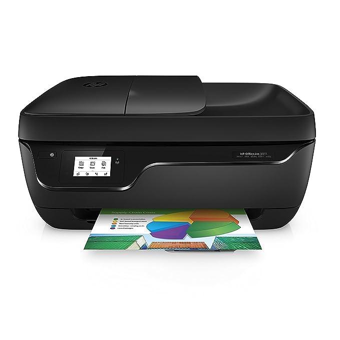 HP OfficeJet 3831 - Impresora multifunción de Tinta (WiFi, 512 MB, 600 x 300 dpi, 1200 x 1200 dpi, A4, 216 x 297 mm, con 1 año del Plan de 50 páginas de HP Instant Ink Incluido), Color Negro