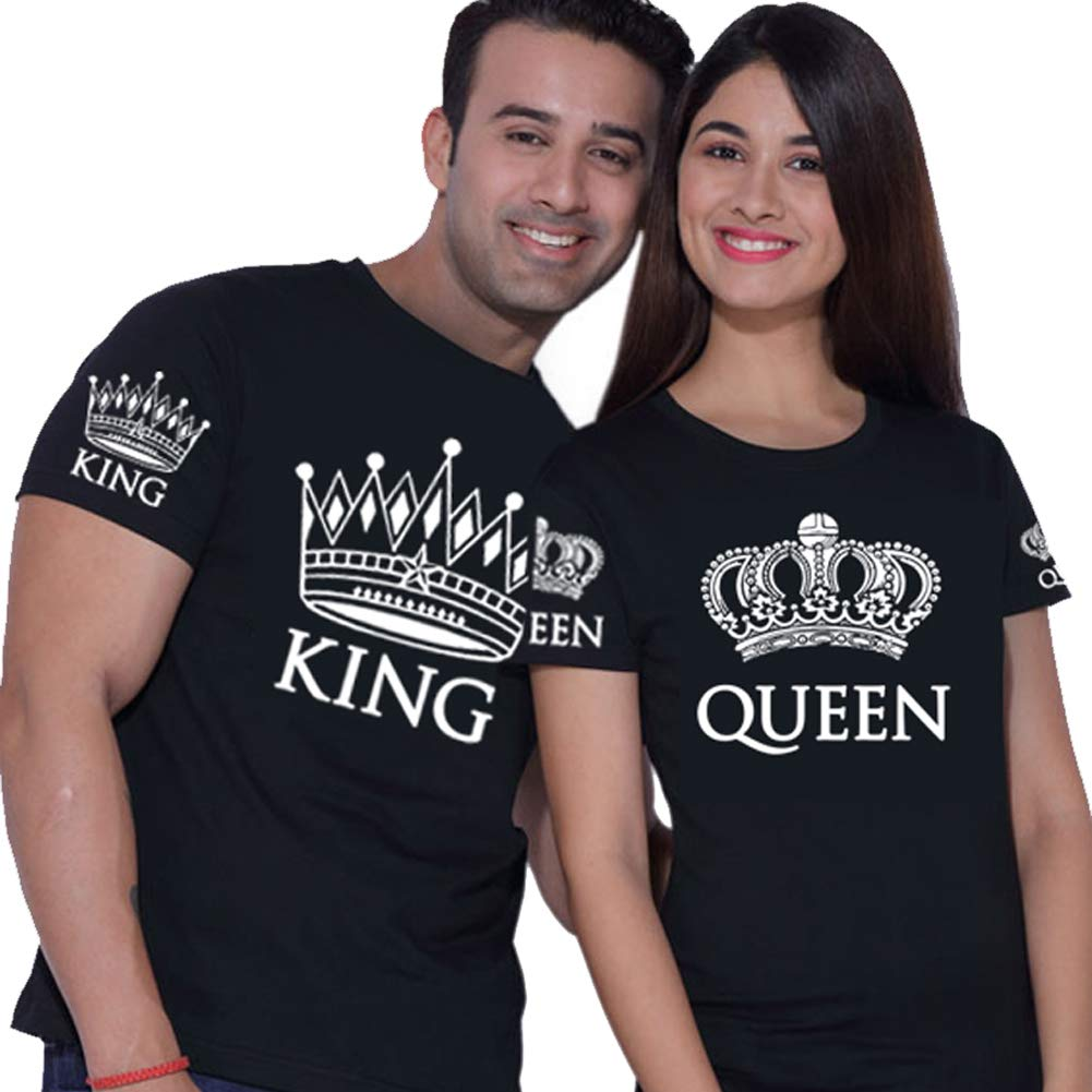 Amazon King Queen Matching Shirts For Couples Black Clothing