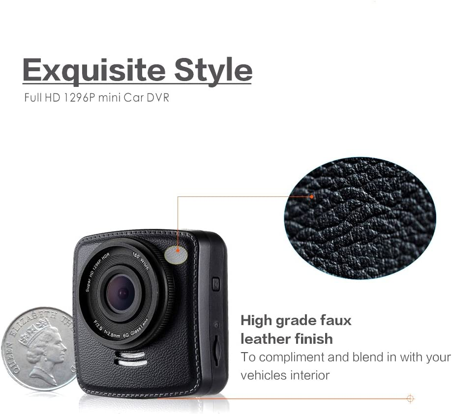 Night Vision Super Full HD1080P Online Technical Support. GPS Route /& Maps On Dash Cam Amacam AM-C60 Compact Car Camera 160 Degree Wide Angle Lens Supports up to 64GB Memory Cards