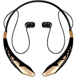 Bluetooth Headphones DolTech Stereo Neckband Wireless Headset Sport Earbuds with Mic (10 Hours Play Time, Bluetooth 4.1, CVC 6.0 Noise Cancelling, Sweatproof) - 904 Black Gold