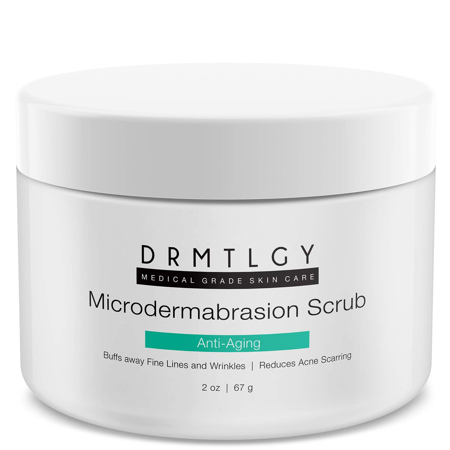 DRMTLGY Microdermabrasion Facial Scrub and Face Exfoliator. Natural Non-Abrasive Face Exfoliator Improves Acne Scars, Blackheads, Pore Size, and Skin Texture. 2 oz: Beauty