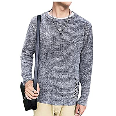 Discount ouxiuli Men\'s Simple Sweater Slim Fit Round Neck Sweaters Pullovers Knitted Tops for sale yi6pUrWe