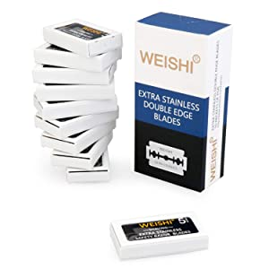 Weishi Extra Stainless Double Edge Safety Razor Blades 50 Blades