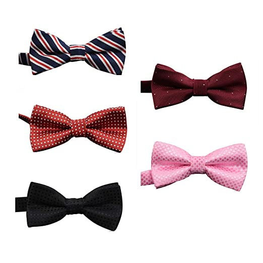 70b969f751651 Amazon.com: SKEPO Pack of 5 Bow Ties Adjustable Pre-tied Bow Tie for ...