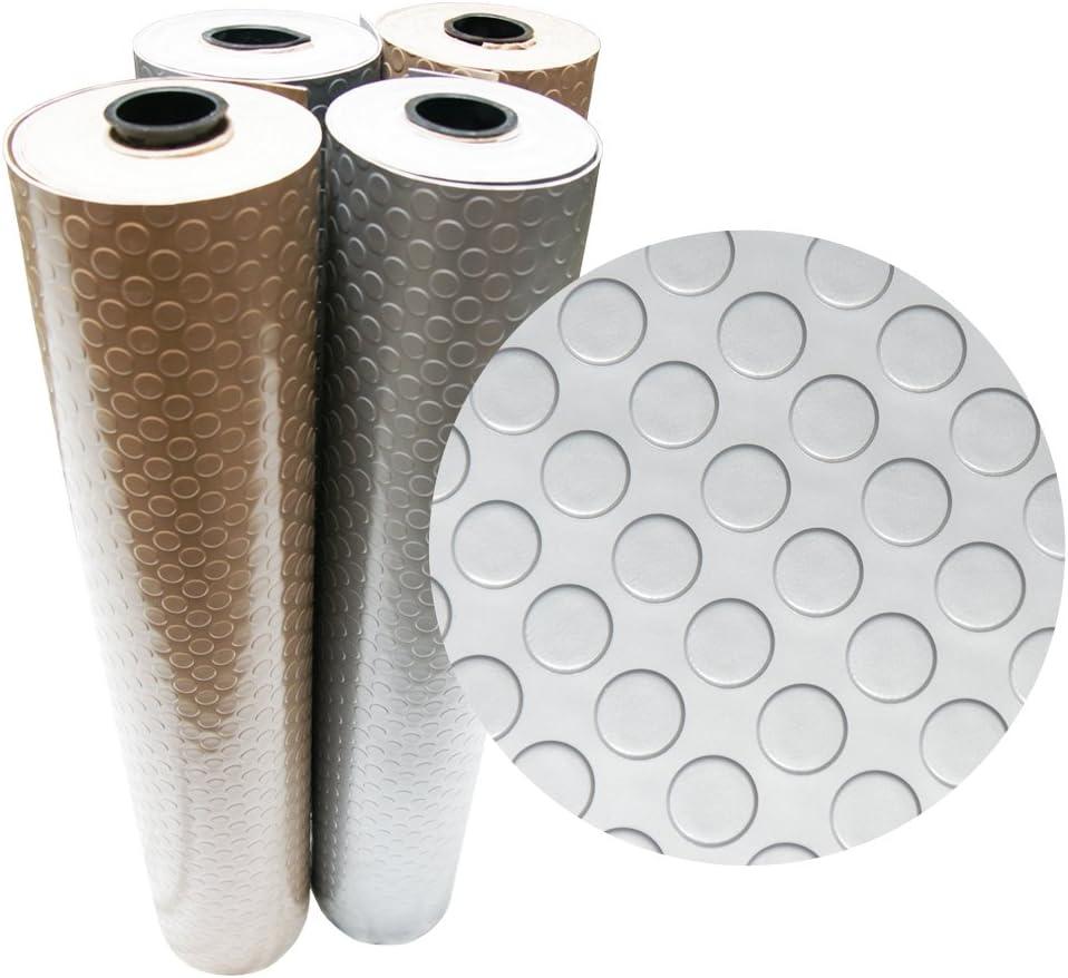 Rubber-Cal Coin Grip Metallic PVC Flooring