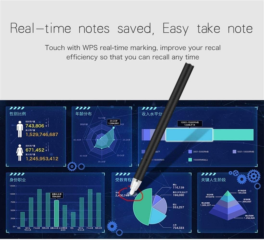 Multiple Colors Compatible with Mainstream Tablet Models Projector Smart Stylus Color : Blue