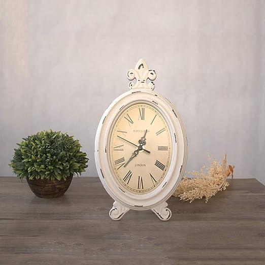 Tangxiaonei Reloj de Mesa Vintage Estilo Europeo de Madera Reloj ...