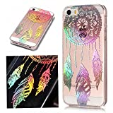 For iphone 5S /5 iphone SE Case Clear Silicone Phone Cover and Screen Protector, OYIME Creative Plating Design with Bright Pattern Skin Ultra Thin Slim Soft Silicone Rubber Glitter Brilliant Transparent Protective Back Cover Anti-Scratch Drop Protection Shockproof Bumper Cases - Dream Catcher