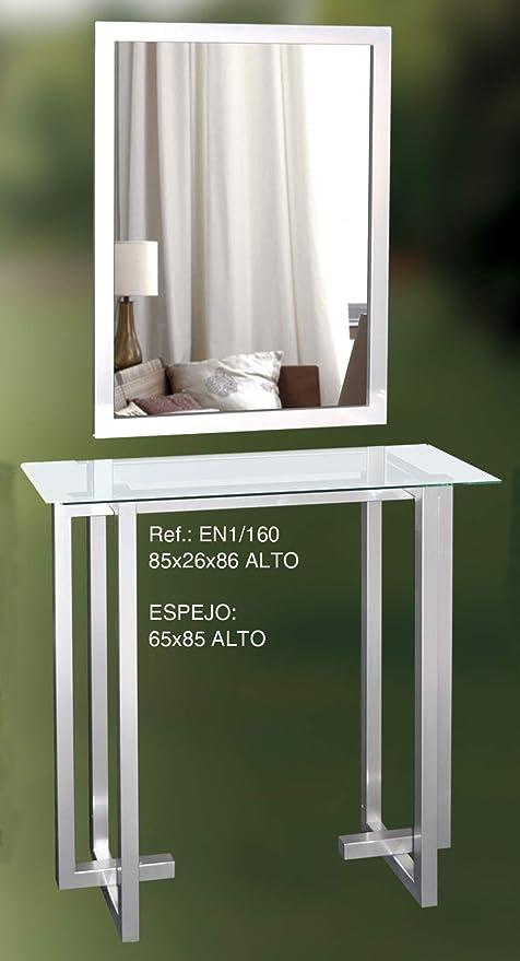 Recibidor de Entrada con Mesa y Espejo en1: Amazon.es: Hogar