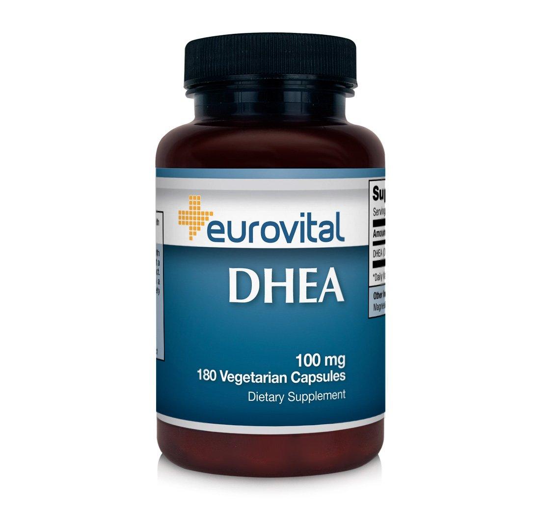 Eurovital DHEA 100mg, 180 Capsules - Made in the USA