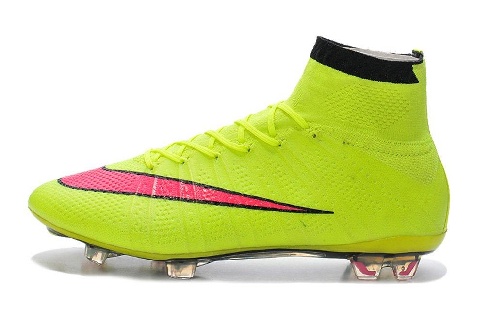 Generic Herren Mercurial superfly X 10 FG Hi Top Gelb Fußball Schuhe Fußball Stiefel