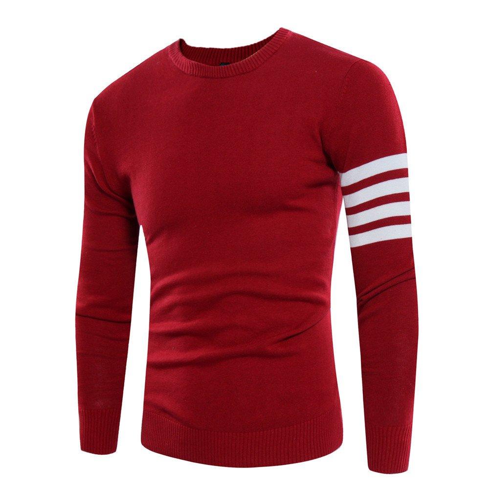 Männer - winter pullover mode männer pullover rollkragen - pullover,Rot - rot,M