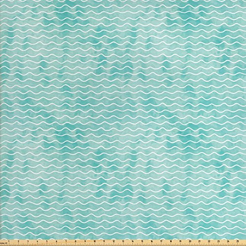 upholstery fabric turquoise - 9