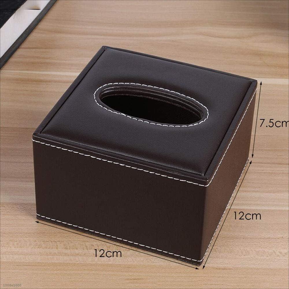 HRF0HLHY Caja de pañuelos,Cuero Hotel Tejido Cuadro Cuadrado Tejido Caja Caja de Papel de almacén Caja de Almacenamiento,C: Amazon.es: Hogar