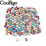 200pcs 8mm Rhinestone Studs Round Rivets Punk DIY for Clothing Shoes Bags Belt Spikes GZ080-8(Mix-s)