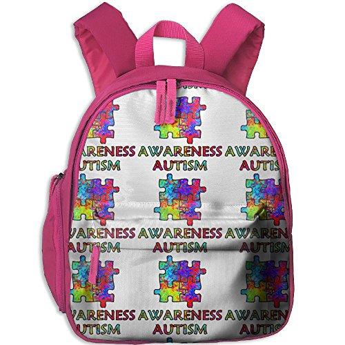 Kid's Pre School Backpack Boy&girl's Autism Awareness Puzzle Book ()