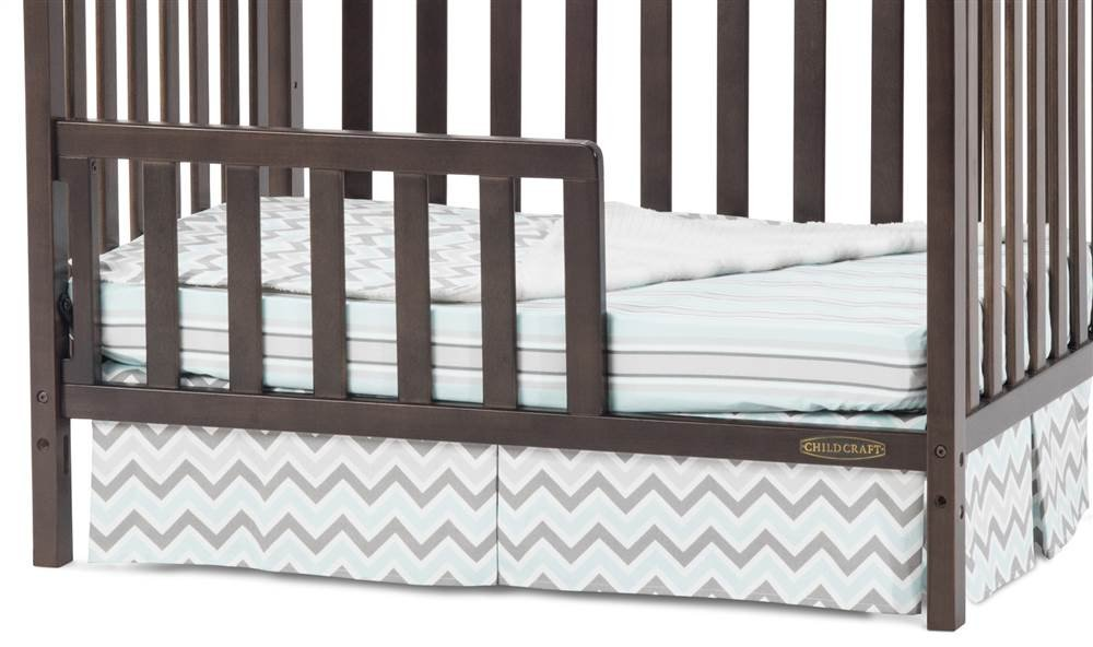 Child Craft Toddler Guard Rail for Mini Cribs, Slate Foundations F09714.97
