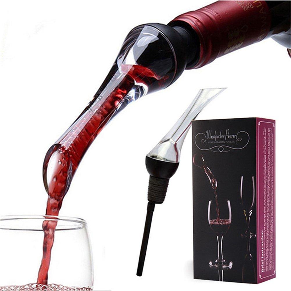iRoundy Weinbelüfter,Wein Ausgießer, für rote und weiße Weine-Dekantieren mit Eleganz und Einfachheit