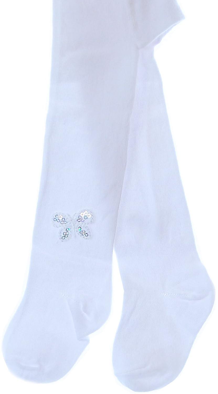 Weiße Baby Strumpfhose Weiß 56 62 68 74 80 86 Taufe Festlich Muster NEU Blumen