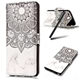 iPhone 8 Case,iPhone 7 Case,iPhone 8 Wallet Stand Case,iPhone 7 Wallet Stand Case,Flip Cover Case for iPhone 8,SKYMARS iPhone 7 Cover Gloss Skin 3D Creative Design Book Style PU Leather Flip Kickstand Cards Slot Wallet Magnet Protective Stand Case for iPhone 7 (2016) / iPhone 8 (2017) White Totem