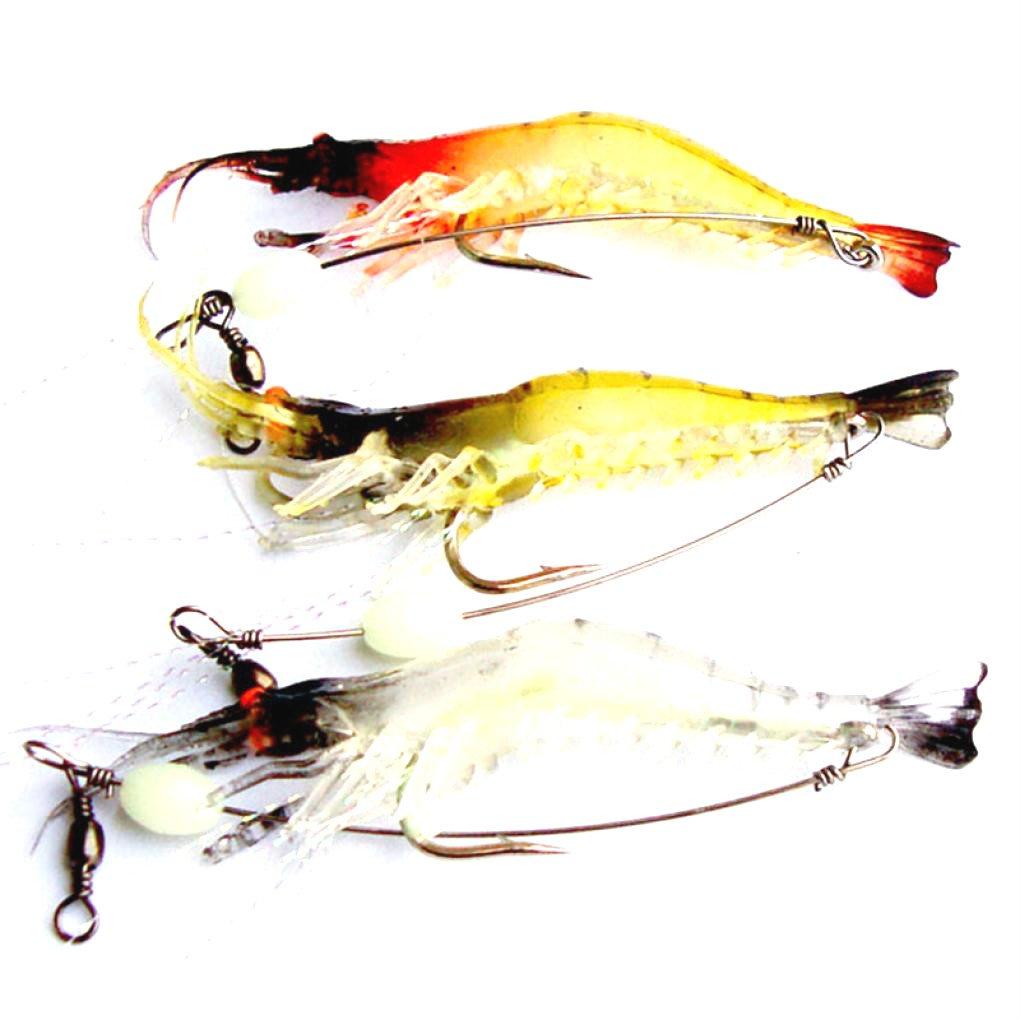feccile s-ports & fit-nessの形状Shrimp釣りルアーフック海水釣り餌タックル、3個   B07F7QYPDL