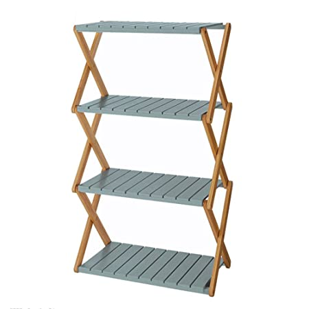 Amazon.de: FT SM® Rack Faltbare Schlafzimmer Massivholz Bücherregal ...
