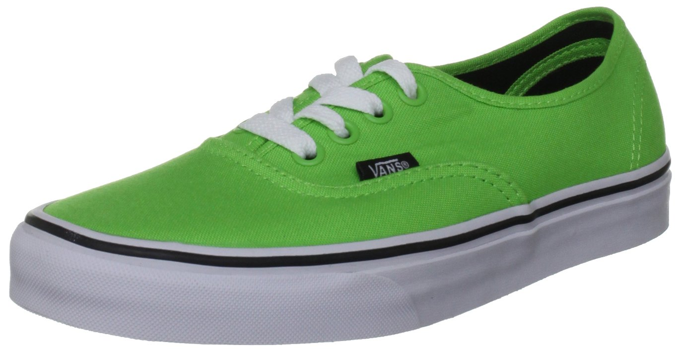 Vans U Authentic, Zapatillas De Deporte Unisex 8 UK|Verde - Grün (Green Flash/Bla)