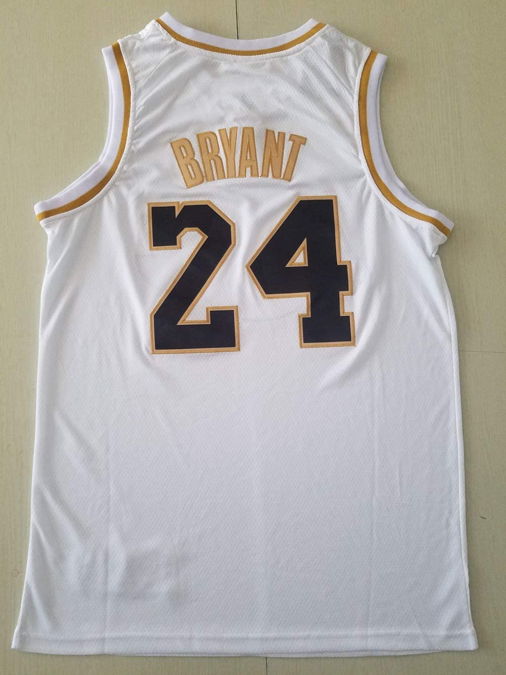 24 Los Angeles Lakers Maillots d/ét/é Basketball Uniforme Broderie Tops Basketball Suit Jerseys Jersey Or Noir DCE Homme Maillot Kobe Bryant NO