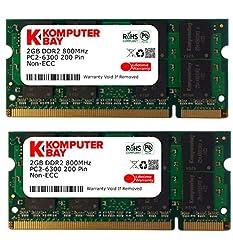 Komputerbay 4GB 2X2GB 800MHz PC2-6300