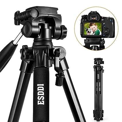 ESDDI 170cm/67inches Kamera Stativ Aluminiumlegierung Stativ Kompakt Leichtes Stativ für Smartphone DSLR SLR Canon Nikon Sony