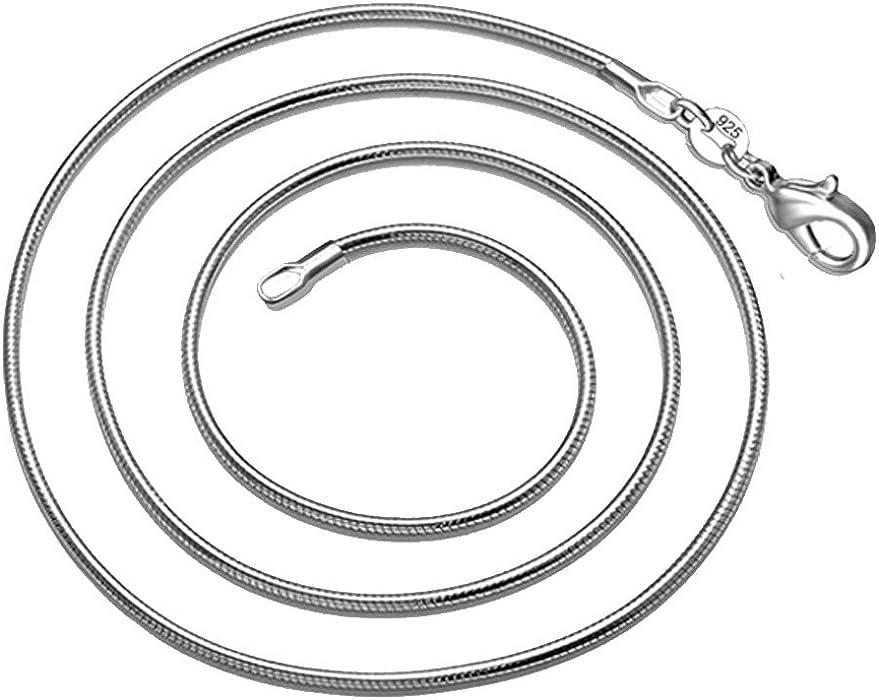 Kette 80cm 2mm Schlangenkette silber versilbert