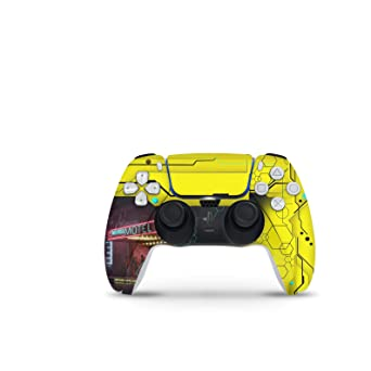 PS5 skins Cyberpunk 2077 theme vinyl decal cover for Sony Playstation 5 Package include skins of 1 console 2 controllers
