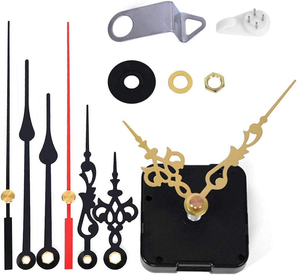 EMOON Clock Movement Mechanism with 3 Pack Clock Hands, Silent Sweep Quartz Clock Motor Kit, for Clock Repair DIY Replacement, Custom Clock