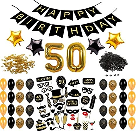 Amazoncom 50th BIRTHDAY DECORATIONS COMPLETE PACKAGE PARTY