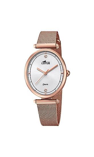 Lotus Watches Reloj Análogo clásico para Mujer de Cuarzo con Correa en Acero Inoxidable 18450/