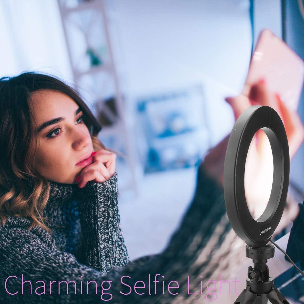 Beauty LED Ringlicht Dimmbar Selfie Light Kit Makeup Fotografie Beleuchtung Mini Kreis Desktop Lampe Licht mit Cellp Hone Halter f/ür YouTube Videos//Foto//Streaming//Instagram 6