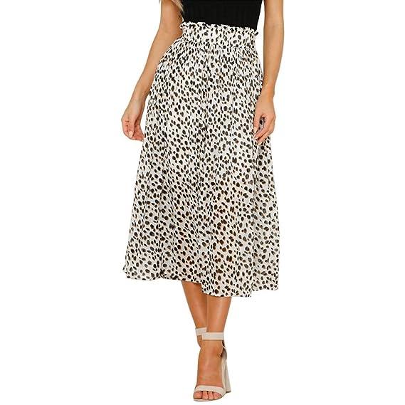 Falda Larga Mujer, LEvifun Falda Mujer Fiesta Falda de Mujer Punto ...