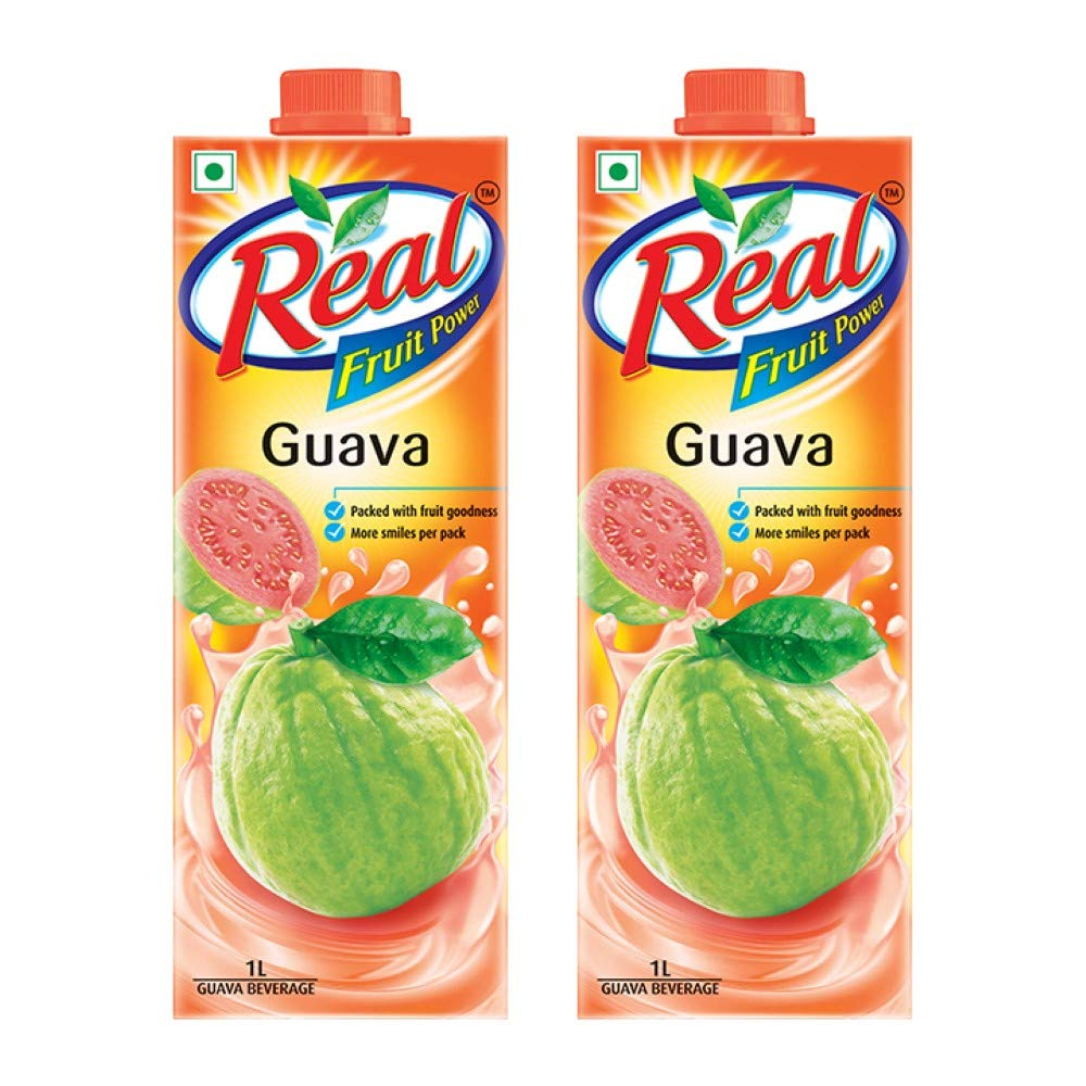 Real Fruit Juice, Guava, 1L (Pack of 2)