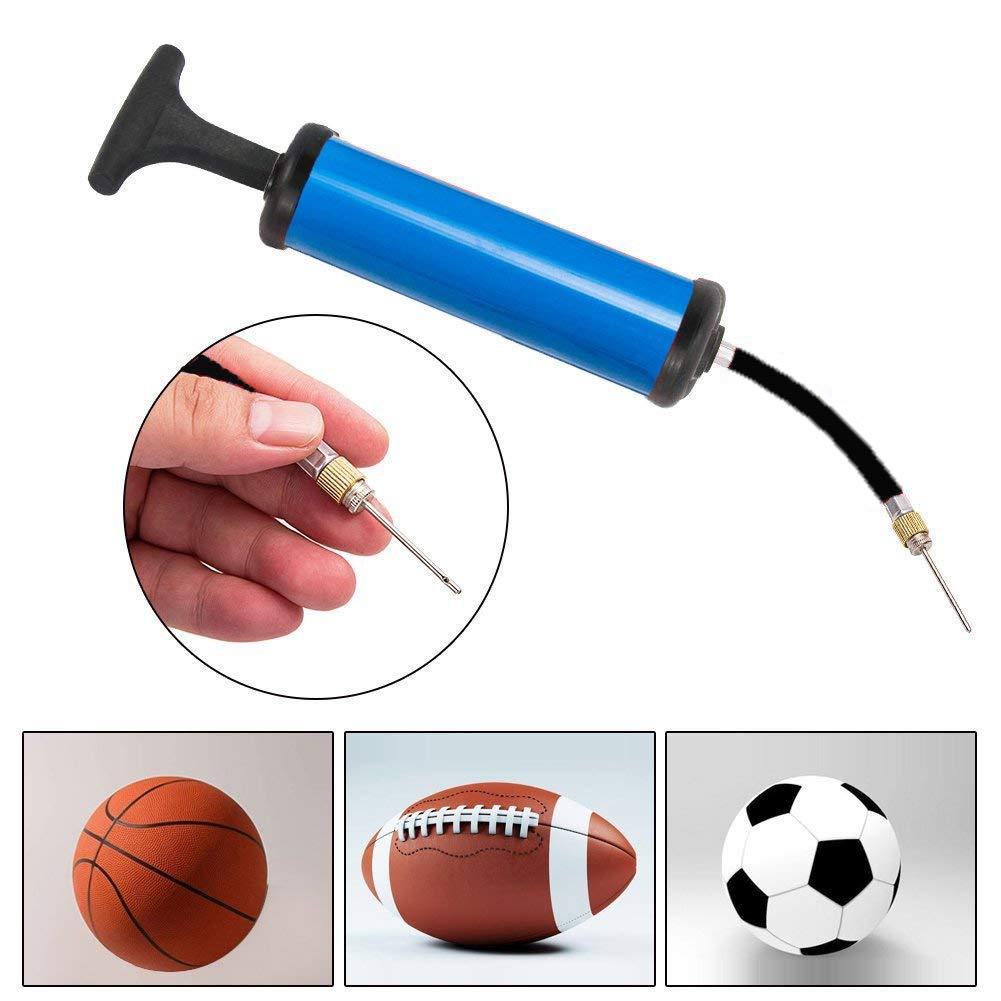 "8/"" Hand Air Pump for Basketball Football Soccer Ball Needle Fast Inflates Ball"